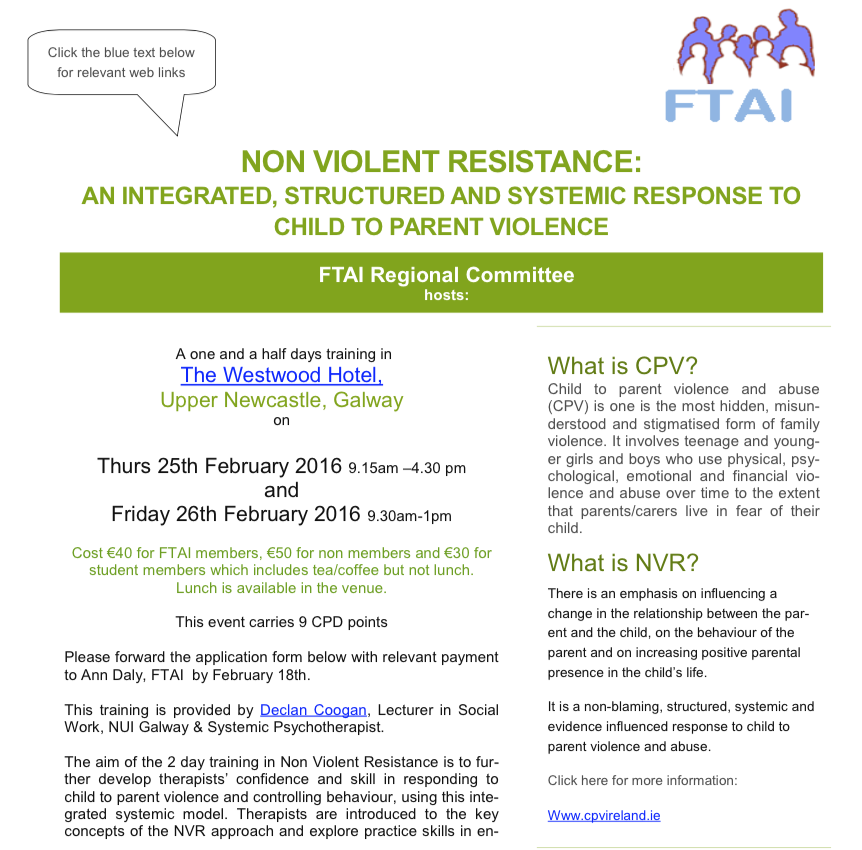 Child to Parent Violence and Abuse in Ireland